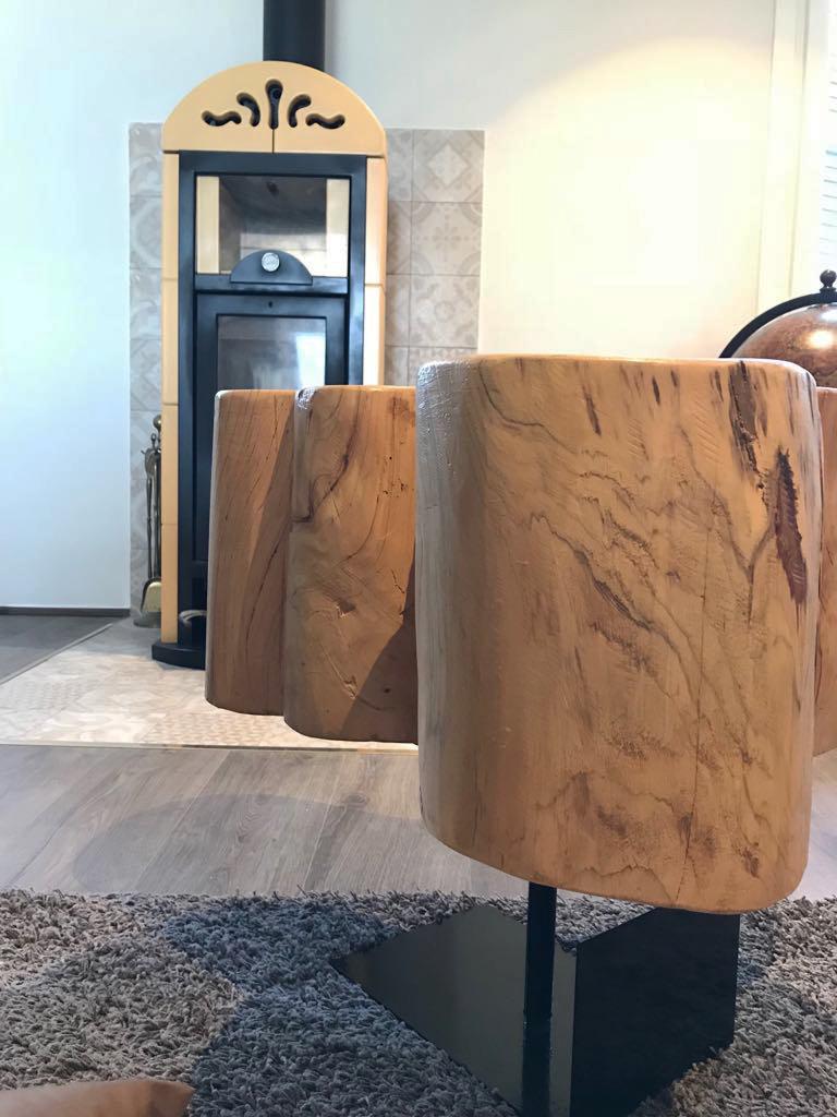 Ceppo Di Legno Tavolino paolo strina atelier | tavolino alvar aalto
